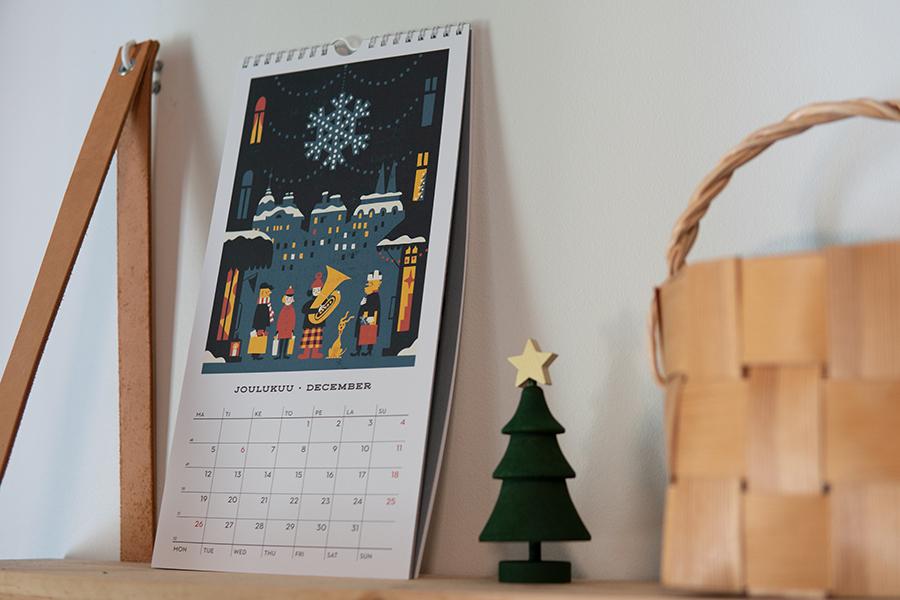 画鋲で飾れない場合 カレンダー