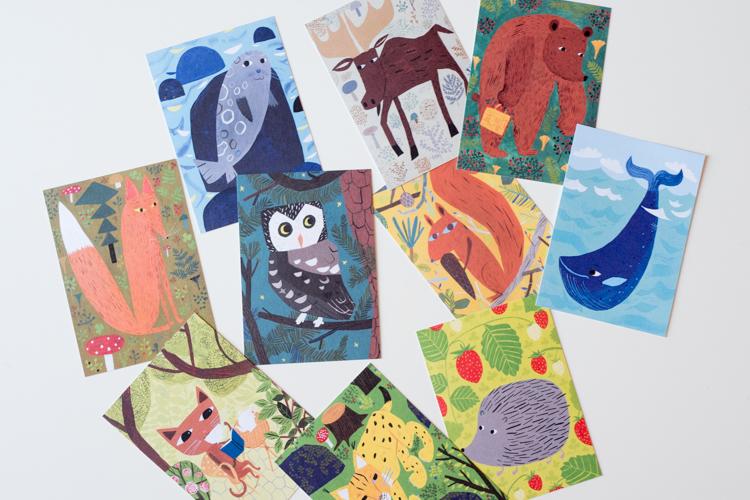 マッティの動物ポストカード色々の写真