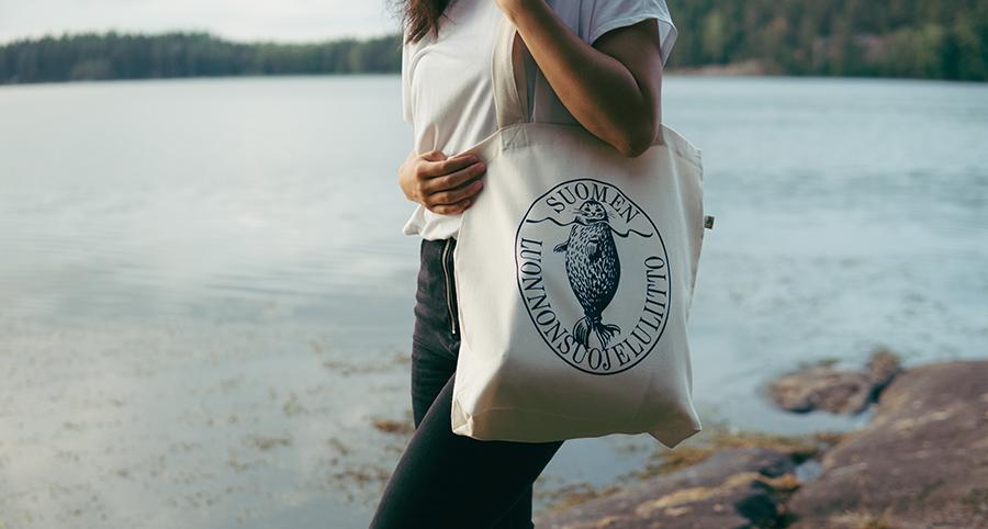 トートバッグ「アザラシロゴ」フィンランド