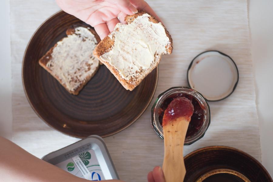 バターナイフの使用した写真