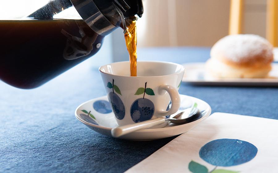 プルーヌス コーヒーカップ&ソーサー